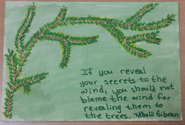 If you reveal your secrets...
